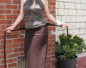 Maxi Skirt with Foldover Waist and long wrap ties