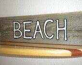 wood sign gray-BEACH