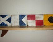 Nautical flag letters-MAUI