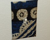 Light switch cover-blue, tribal