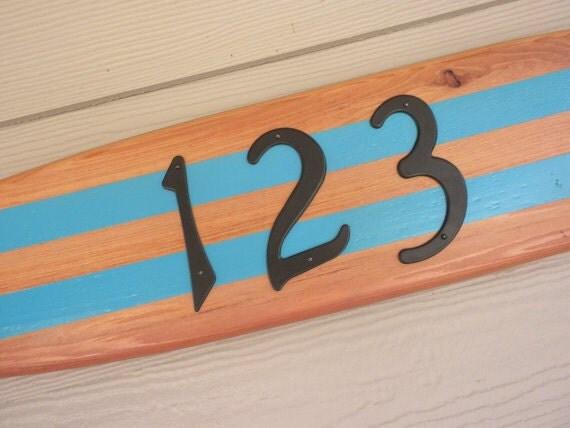 surfboard-address plaque