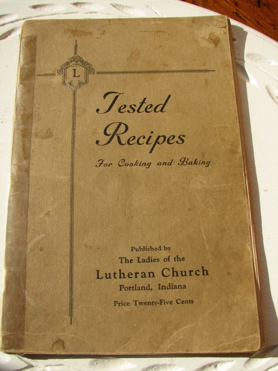 Cookbook Old Church Recipes