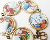 1950's - housewife - bracelet - housework - feminist - brass - statement - laundry - 1960's - mom - iron