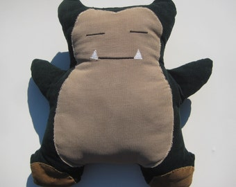 SNORLAX...Pokemon Plush Stuffed Animal Toy...Boys, Girls, Teens, Adults...corduroy...Made to Order