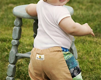 Batik Patchwork and Corduroy Pants..baby toddler boys girls..6 months, 12 months, 18 months, 24 months, 2T, 3T, 4T