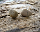 Natural Pebble Earrings