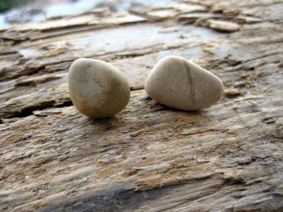 Natural Pebble Earrings