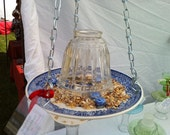 Upcycled Dish Bird Feeder