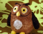 Felted Wide-Eyed Owl