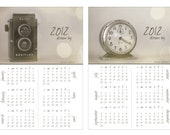FREE SHIPPING - SALE: 2012 Dream Big calendar . Fine Art Photographs . Still Life . Vintage Clock . Vintage Camera .
