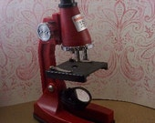 Vintage Red Microscope