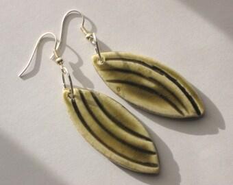Mediterranean Olive Leaf Earrings