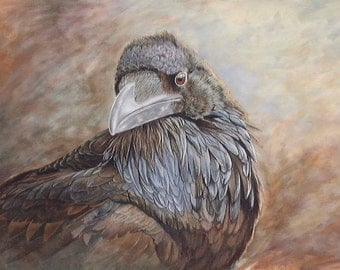 Raven at Yellowstone Limited Edition Giclee Fine Art Print