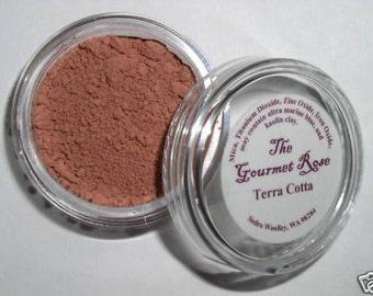 TERRA COTTA BLUSH Natural Pure Mineral Makeup Sheer Bare Cover Minerals Cheek Highlighter