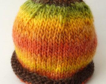 Orange Brown Beanie, Knit Hat Brown Beanie, Knit Hat Green Beanie, Knit Hat Baby Beanie, Knit Hat Boy Beanie, Knit Hat Orange Beanie