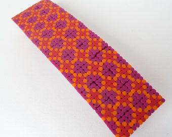 Polymer Clay Hair Barrette Cross Stitch Pattern Patchwork