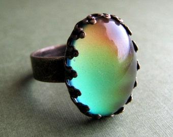 Petite Crown Steampunk Mood Ring