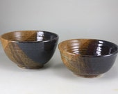 Pottery Soup or Cereal Bowls Set of  2