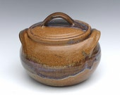 Stoneware Pottery Casserole or Bean Pot