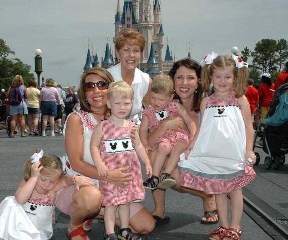Nana's Heart Smocked Minnie Mouse Halter