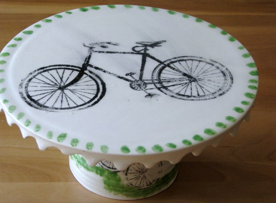 Bicycle Cake Plate