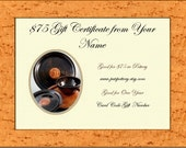 75 Dollar Gift Certificate of Pottery / Can be emailed today