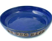 Reserved for Diane - Ceramic Dog Bowl -  Personalized for Your Pet - Handmade Pet Bowl - Custom Doggy Pottery - Wheel Thrown Stoneware