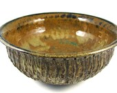 6 Cup Ceramic Bowl / Handmade Stoneware Pottery  Wheel Thrown Clay