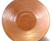 Rust Ceramic Bowl That Looks Like Leather - Handmade Stoneware Pottery Wheel Thrown Clay