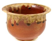 Ceramic Bowl - Autumn Rust Bowl - Handmade Wheel Thrown Art - Stoneware Centerpiece Bowl - Clay Art Pottery - Ships Today