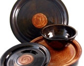 Ceramic Dinnerware Sets - Handmade Dishes Plates and Bowls - Custom Made for You - Stoneware Clay Wheel Thrown Pottery