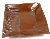 Square Ceramic Plate / Handmade Stoneware Dinnerware / Clay Pottery Dish - Ready to Ship