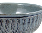 7 Cup Blue Serving Bowl / Handmade Stoneware Pottery  Wheel Thrown Clay/ Ready to Ship