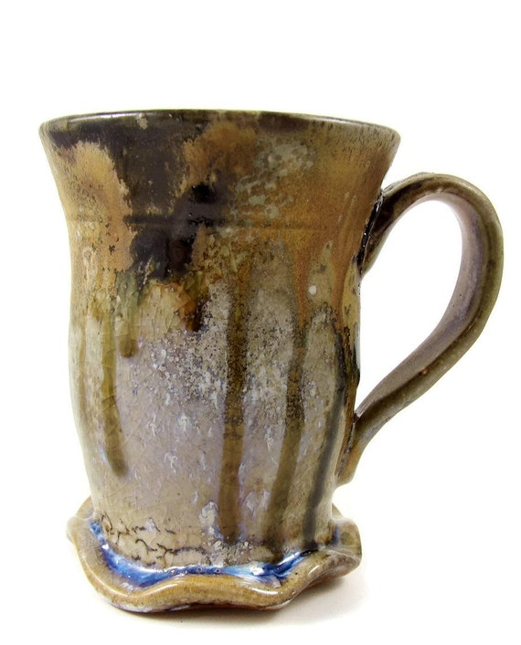 Mug with Flower Foot / Wheel Thrown Stoneware Pottery / Made in Penland