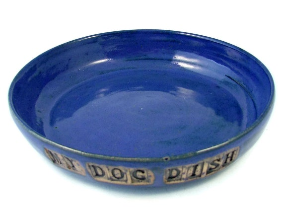 Ceramic Dog Bowl -  Personalized for Your Pet - Handmade Pet Bowl - Custom Doggy Pottery - Wheel Thrown Stoneware