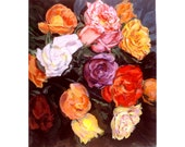 He Brought Me Roses  (An Original  Still Life Painting on Linen,  20 x 17 inches)