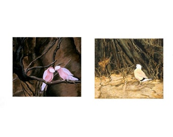 Pink and Yellow A Paired Set of Paintings