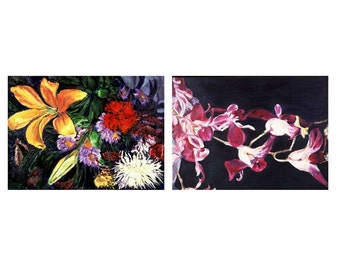 From Talia And Spray   A Paired Set Of Original Still Lifes