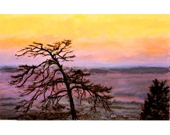Above Oslo, An Original Landscape Painting 22 x 35 inches