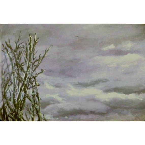 Gray Light  (An Original  Framed Painting 18 x 23 inches)