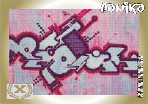 Graffiti Cross Stitch 006 - Panika