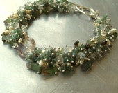 First Frost - Jourdain - Pine green with frosty white Bracelet - Winter Preview