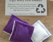Ugly Kitty Eco-Tossers - Eggplant Power - Organic Cat Toy Trio