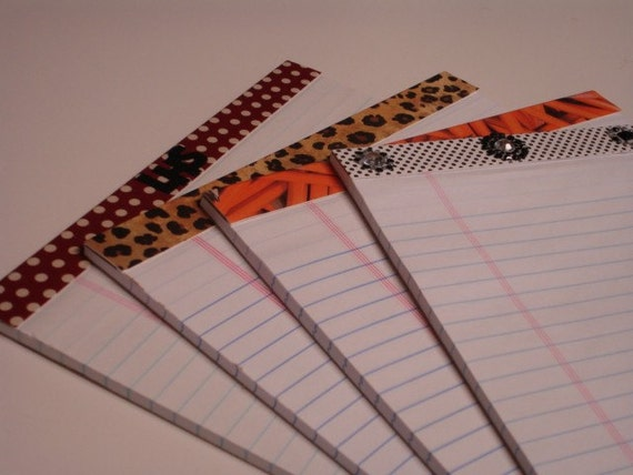Personalized CUSTOM  LARGE NOTEPAD you pick colors - match my clipboard