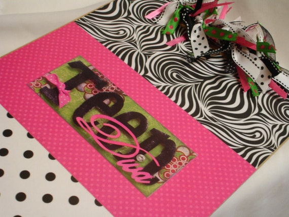 Clearance Sale TEEN DIVA decorated clipboard FREE Shipping