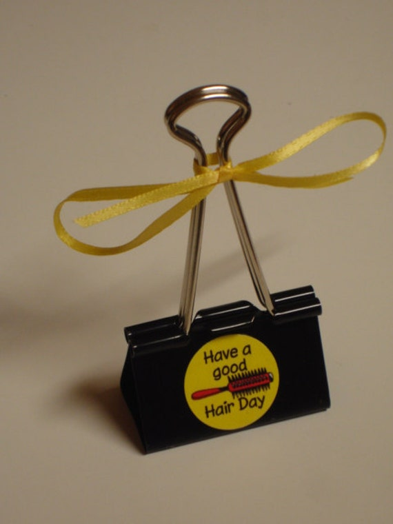 LARGE binder clip recipe - gift card - photo holder HAIR STYLIST
