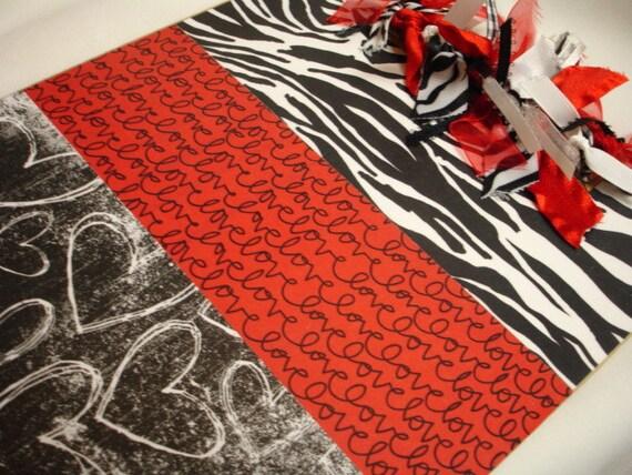 ZEBRA LOVE CLIPBOARD Valentines Day gift