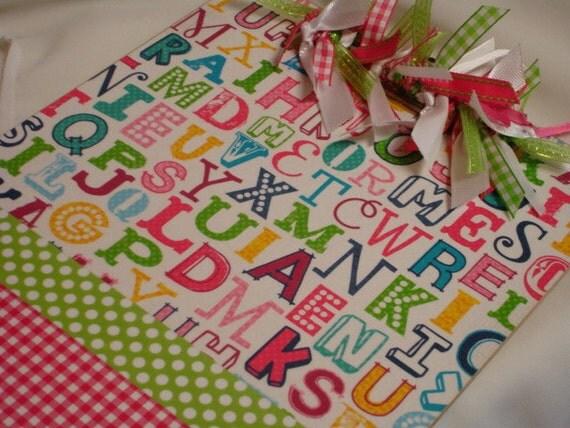 BRIGHT ALPHABET teacher clipboard personalized free