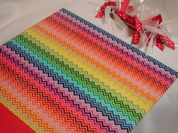 RAINBOW CHEVRON CLIPBOARD personalized free