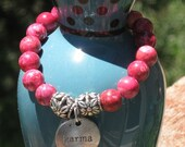 Good Karma Dark Pink Magnesite Bracelet